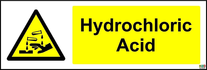 Acide Chlorhydrique Avertisseur de s/écurit/é/ /Autocollant 300/mm x 100/mm