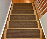 Kyпить Stair Treads Collection Set of 13 Indoor Skid Slip Resistant Brown Carpet Stair Tread Treads (8 inch x 30 inch) (Brown, Set of 13) на Amazon.com