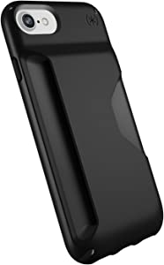 Speck Products Presidio Wallet iPhone SE 2020 Case/iPhone 8 (Also Fits 7/6S/6), Black/Black