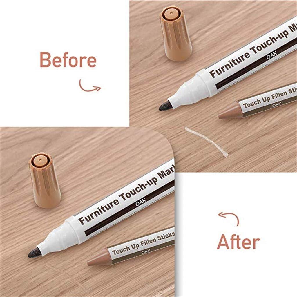 braun Shenye 16 x Wax Sticks Marker Mit 1 x Anspitzer 17 St/ück M/öbelreparatur-Farbstiftwerkzeuge Reparaturset Wax Sticks Marker Set mit 17 Reparaturflecken Kratzer f/ür M/öbel