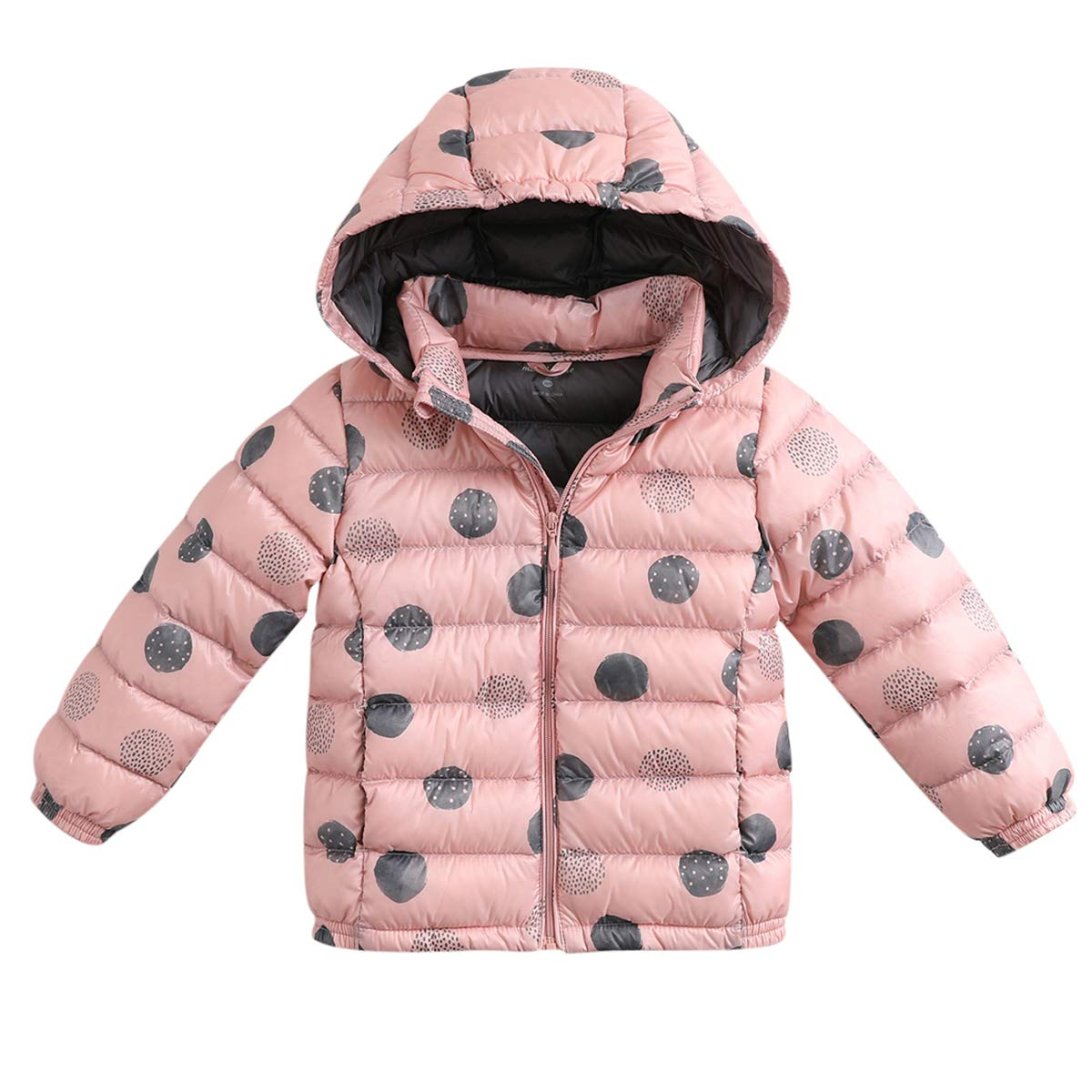 marc janie Girls Lightweight Packable Hooded Down Puffer Jacket