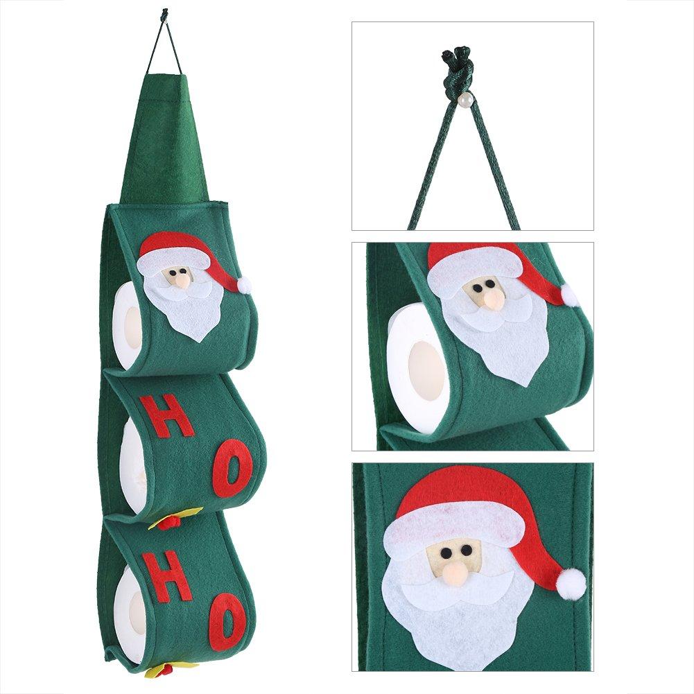 Tovagliolo per tovaglioli di carta appeso, asciugamano natalizio Aramox