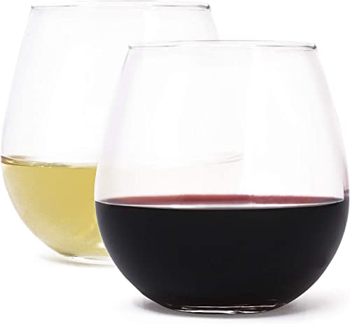 Stemless-Wine-Glass-Set-by-Zeppoli,-4-Pack