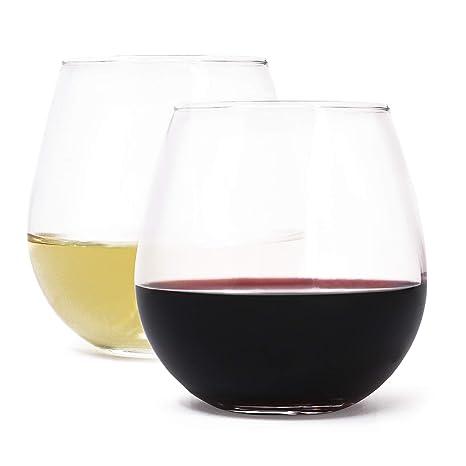 Amazon.com: Juego de copas de vino de vidrio sin bases Royal ...