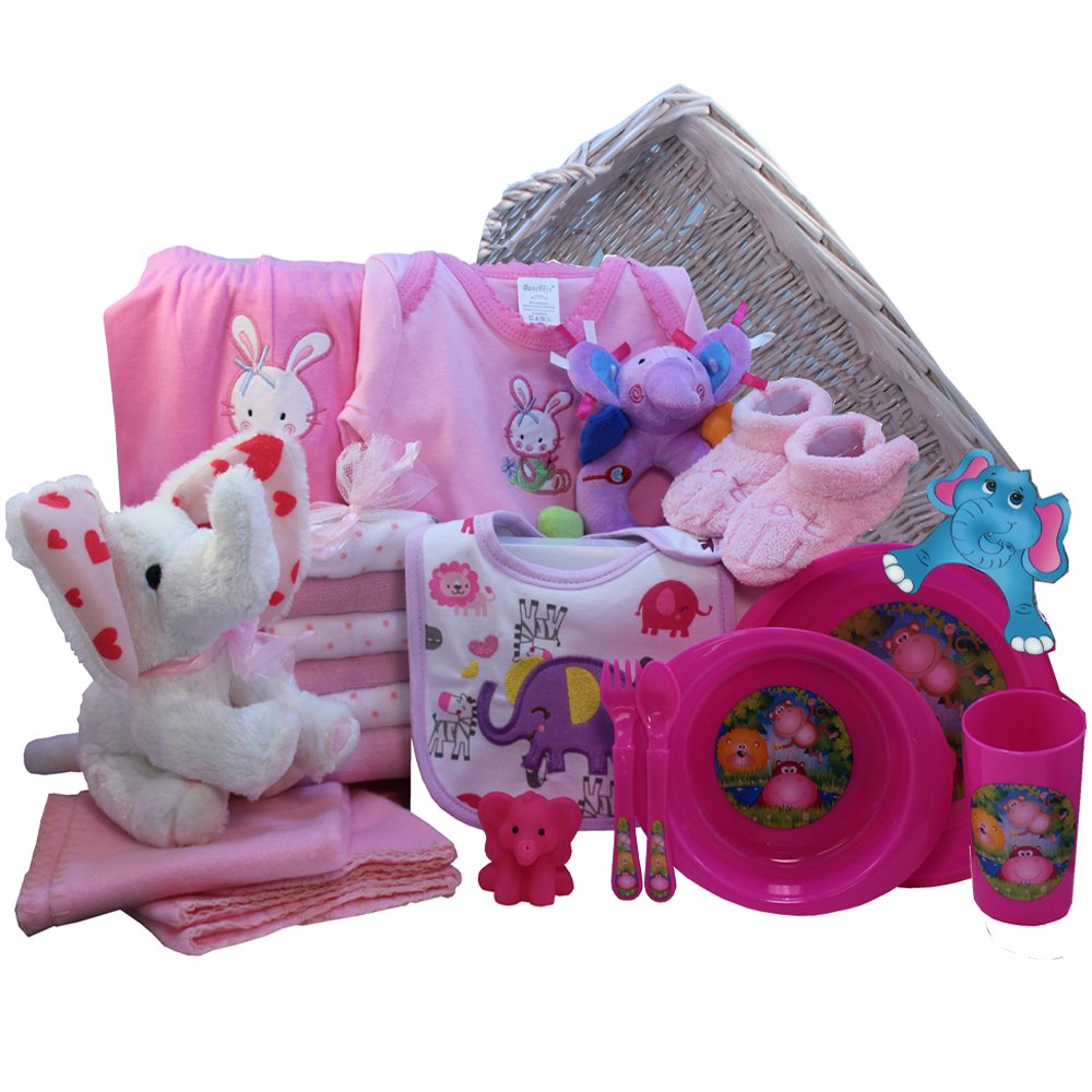 Ellie the elephant baby gift basket pink girls amazon ellie the elephant baby gift basket pink girls amazon grocery gourmet food negle Images