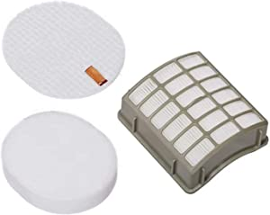 TATX 1 PK Hepa & Foam & Felt Filters Replacement for Shark Navigator Professional NV60, NV70, NV70 26, NV71, NV80, NV85, NV80 26, NVC80C, NV90, NV90 26, NV95, UV420 Vacuums. Part # XFF80 & XHF80
