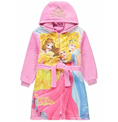 Disney Princess Bath Robe Dressing Gown Pink (3-4 Years): Amazon.co ...