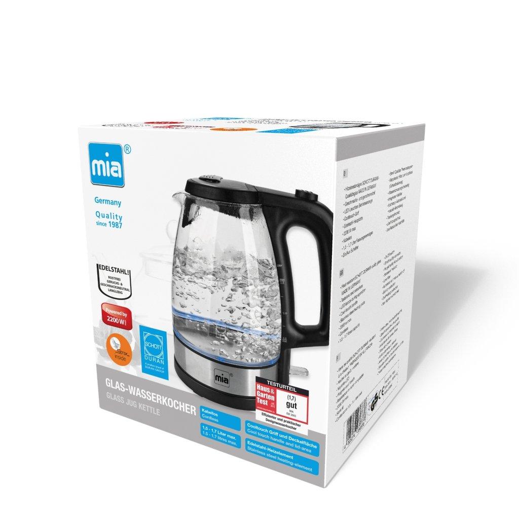 Amazon.de: Mia EW 3683 Glas-Wasserkocher bis 1, 7 L ...