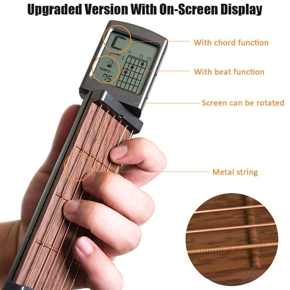 DonLucancy Guitar Chord Trainer Pocket Guitar Guitarra portátil Chord Finger Trainer Solo Chord Artifact.: Amazon.es: Hogar