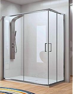 Mampara de ducha Angular Apertura de Puerta Plegable 6mm Antical 70x110x195cm: Amazon.es: Bricolaje y herramientas