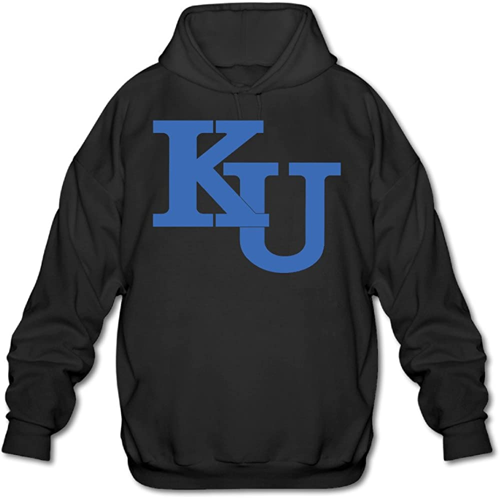 University Of Kansas KU Logo Black PTR Mens Sweater