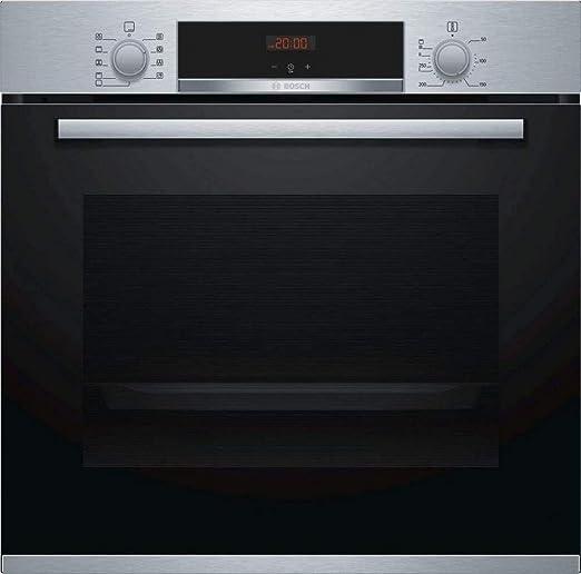 Bosch HBA512BR0 - Horno Eléctrico, Serie 4, Limpieza Hidrolítica, Acero Inoxidable, Capacidad 71 L, 60x60cm