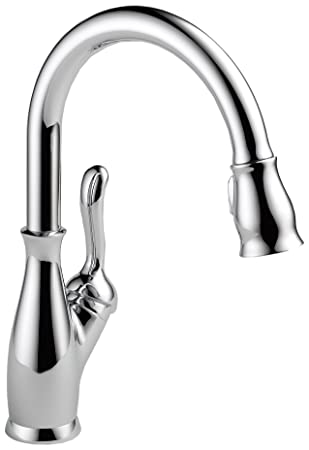 Delta Faucet 9178-DST Leland Single Handle Pull-Down Kitchen ...