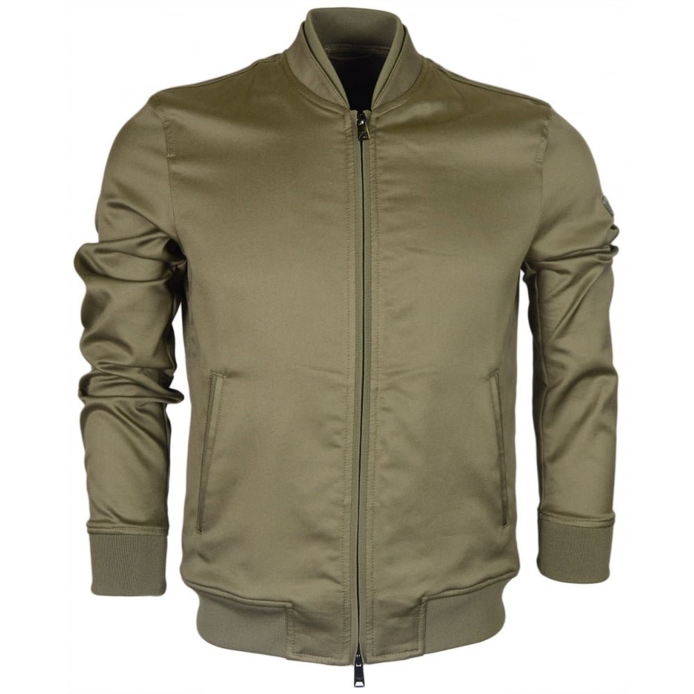 Emporio Armani 3Z1B90 Zip up Green Bomber Jacket 48 Green