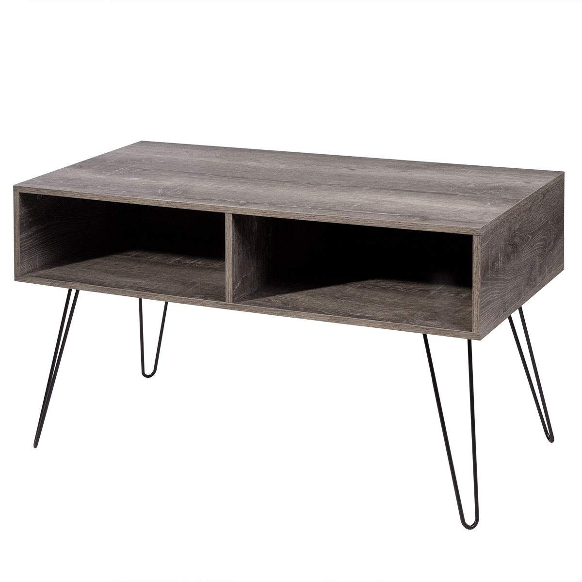 KING77777 Retro and Modern Design Style 42'' TV Stand Wood Media Console with Sturdy Metal Hairpin Legs by KING77777 (Image #1)