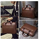 """Contacts Genuine Leather 14"""" Mens Messenger"""