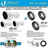 Ubiquiti UVC-G3 Unifi 3Pack Video IP Camera +UVC-G3-LED 3Pack IR Range Extender