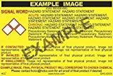 Fuming Nitric Acid GHS Label - 3'' x 5'' (Pack of 25)