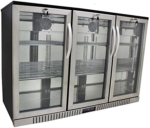 PEAK COLD 2 Glass Door Commercial Back Bar Cooler; Stainless Steel Under Counter Refrigerator; 48 W