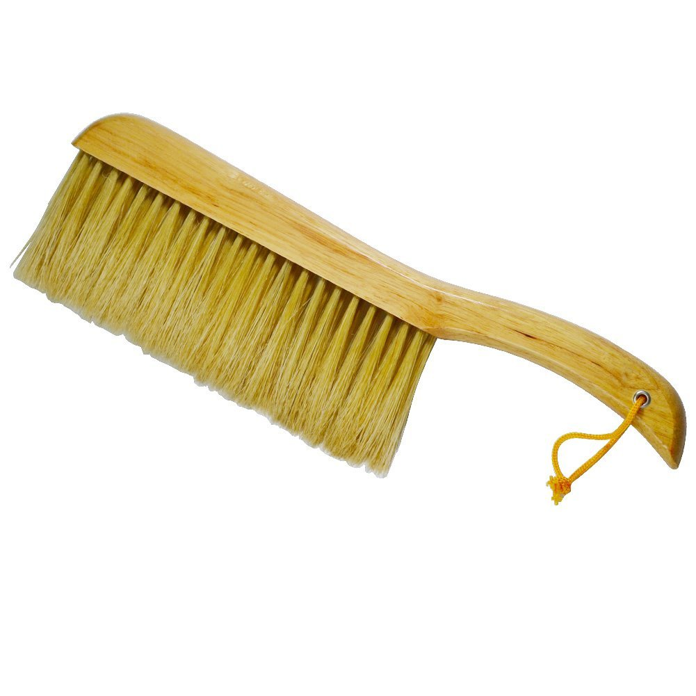 Laxhand Counter Duster Brush of Wood Handle, Soft Bristle Pet Hair Cleaning Brush for Bed Sheets, Sofa, Keyboard, Leather Clothes, Car by Laxhand (Image #1)