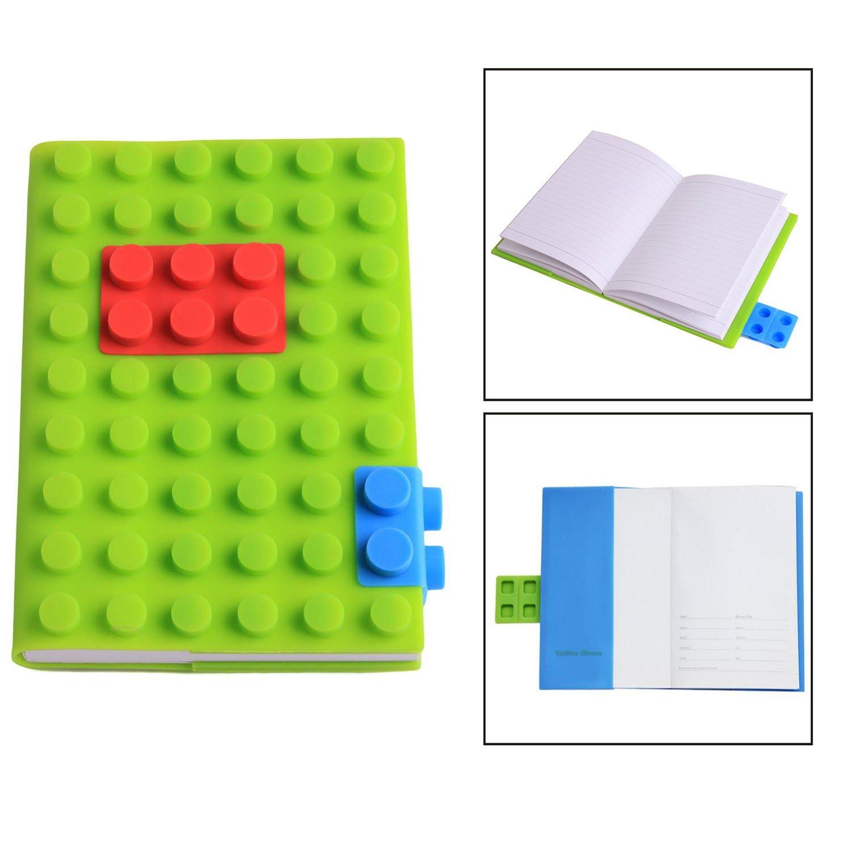 Itian Notepad di Blocchetti di Puzzle Design Cover in Silicone(Verde)