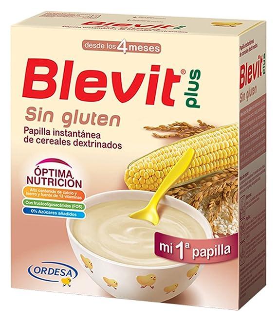Blevit Plus, Cereales para bebé (Sin gluten) - 2 de 300 gr. (Total 600 gr.): Amazon.es: Alimentación y bebidas