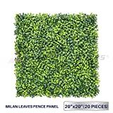 Windscreen4less Artificial Faux Ivy Leaf Decorative Fence Screen 20'' x 20'' Boxwood / Milan Leaves Fence Patio Panel 20 Pcs