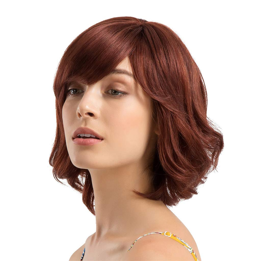 Wig,SUPPION Fashion Women 30 cm Short Curly Hair Hairstyle Human Hair Wigs Beautiful and Natural - Cosplay/Party/Costume/Carnival/Masquerade (A) by SUPPION (Image #3)