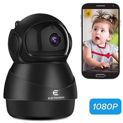 Cámara IP WiFi 1080P Cámara de Vigilancia FHD Seguridad de Casa con Visión Nocturna,Detección de Movimiento,Audio de 2 Vías, 2.4GHz WiFi, Compatible ...