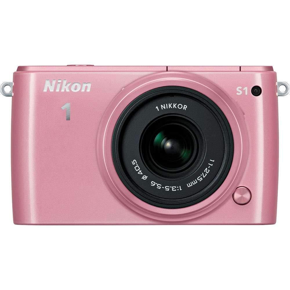 Nikon 1 S1 10.1MP Pink Digital Camera with 11-27.5mm Lens - (Certified Refurbished) by Nikon (Image #2)