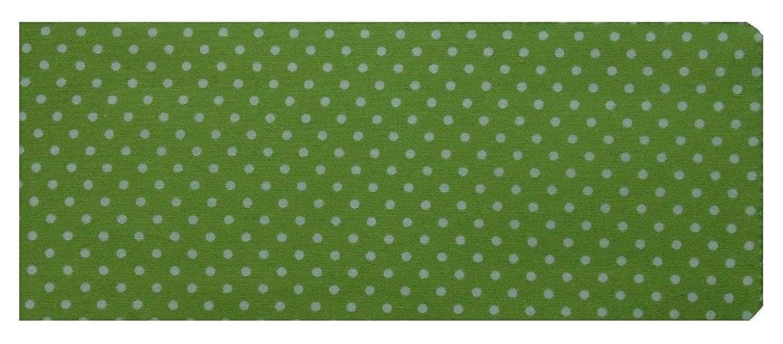 Miss Pretty London Green Polka Dot Print Chequebook Wallet - Cotton Finish