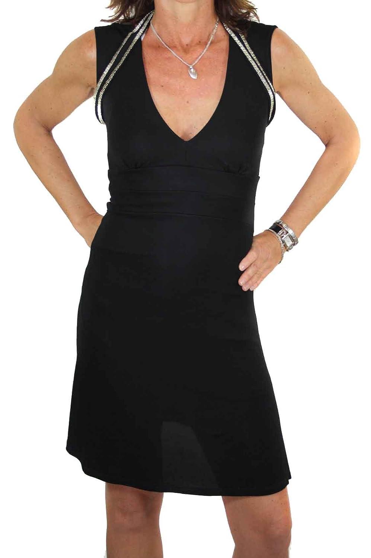 DIESEL Black Gold Women Dress Borealis Black Size XXS