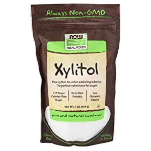NOW Foods Xylitol Pure Sweetner, 16 Ounce Bags (Pack of 3)