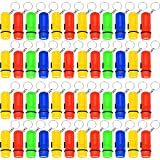 BBTO 48 Pieces Mini Flashlight Key Chain Flashlight Toy Party Favors for Kids, 4 Colors