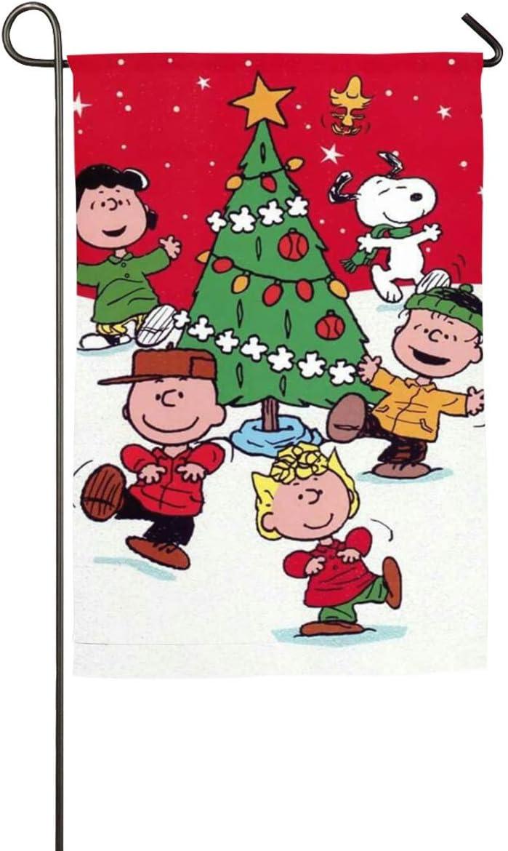 Pooizsdzzz Peanuts Snoopy Merry Christmas Garden Flag Home Outdoor/Indoor Yard Flag 12 X 18/18 X 27 in