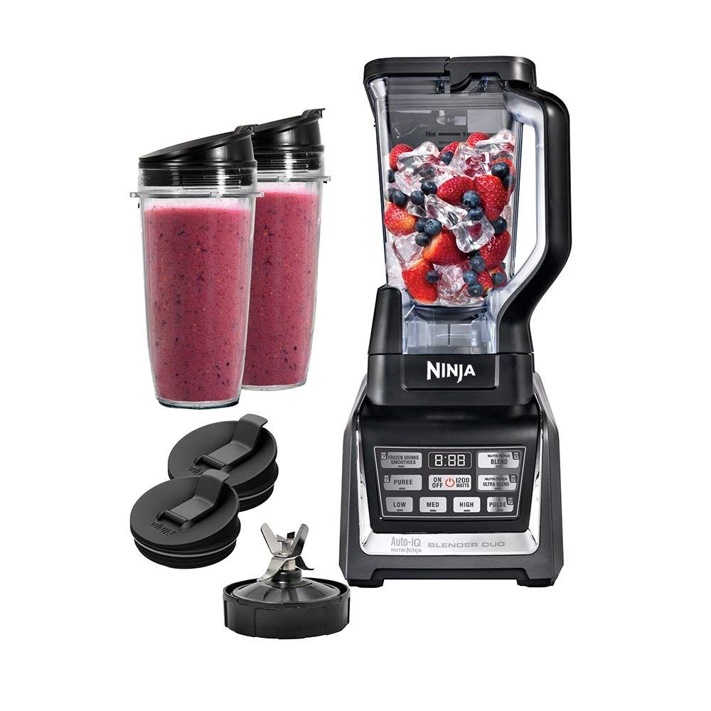 Ninja Nutri Blender Duo with Auto-iQ, Black (Renewed)