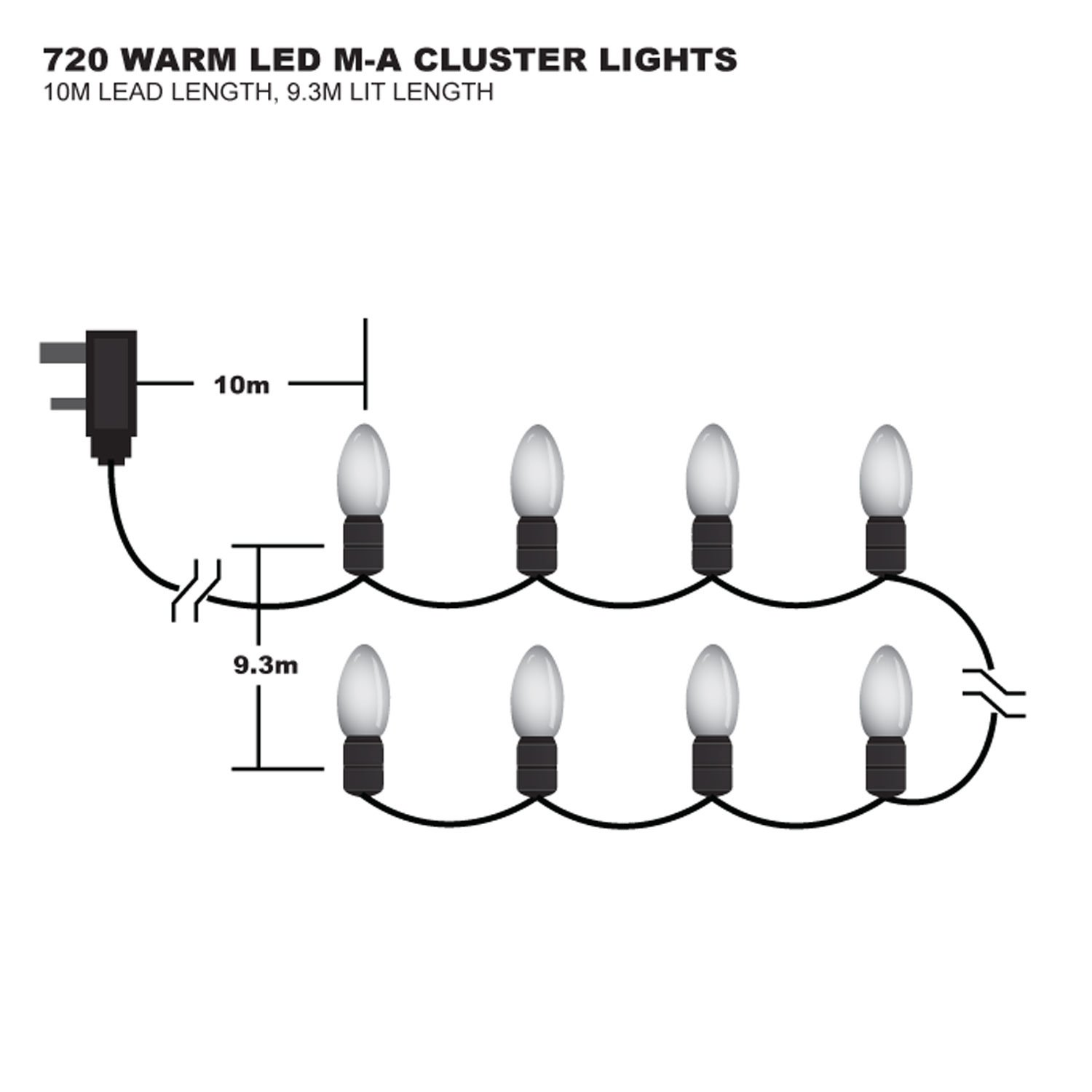 720 W White Multi Action Cluster Premier Christmas Lights Ac Wiring Diagram Led Lv082120ww Kitchen Home
