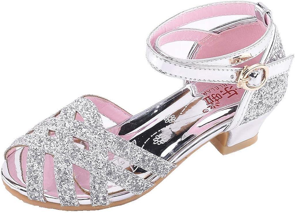 Sayla Zapatos Bailarina para NiñA Baile Tango Latino Vestir Fiesta PequeñOs NiñAs Bling Lentejuelas Hebilla Correa Princesa Zapatos Sandalias De Baile