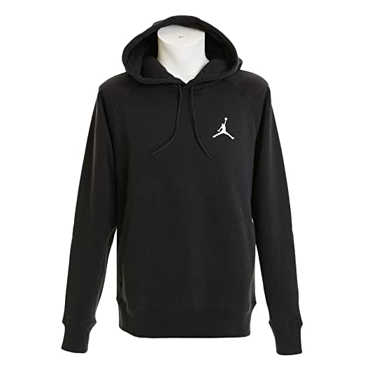 9af33bc09cd7 Amazon.com  Nike Mens Jordan Flight Pull Over Hooded Sweatshirt Black White  823066-010 Size Small  JORDAN  Clothing