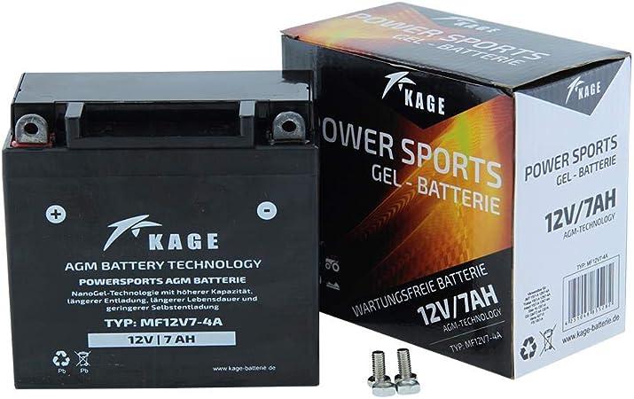 Battery Gel Kage Yb7 A 12n7 4a 7ah For Generic Harley Davidson Keeway Ksr Moto Kymco Sym Auto