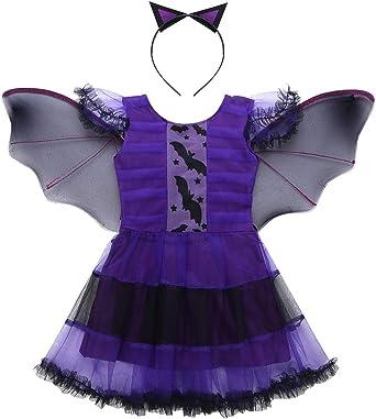 Agoky Disfraz de Vampiro para Niña Tutú Vestido de Murciélago con ...