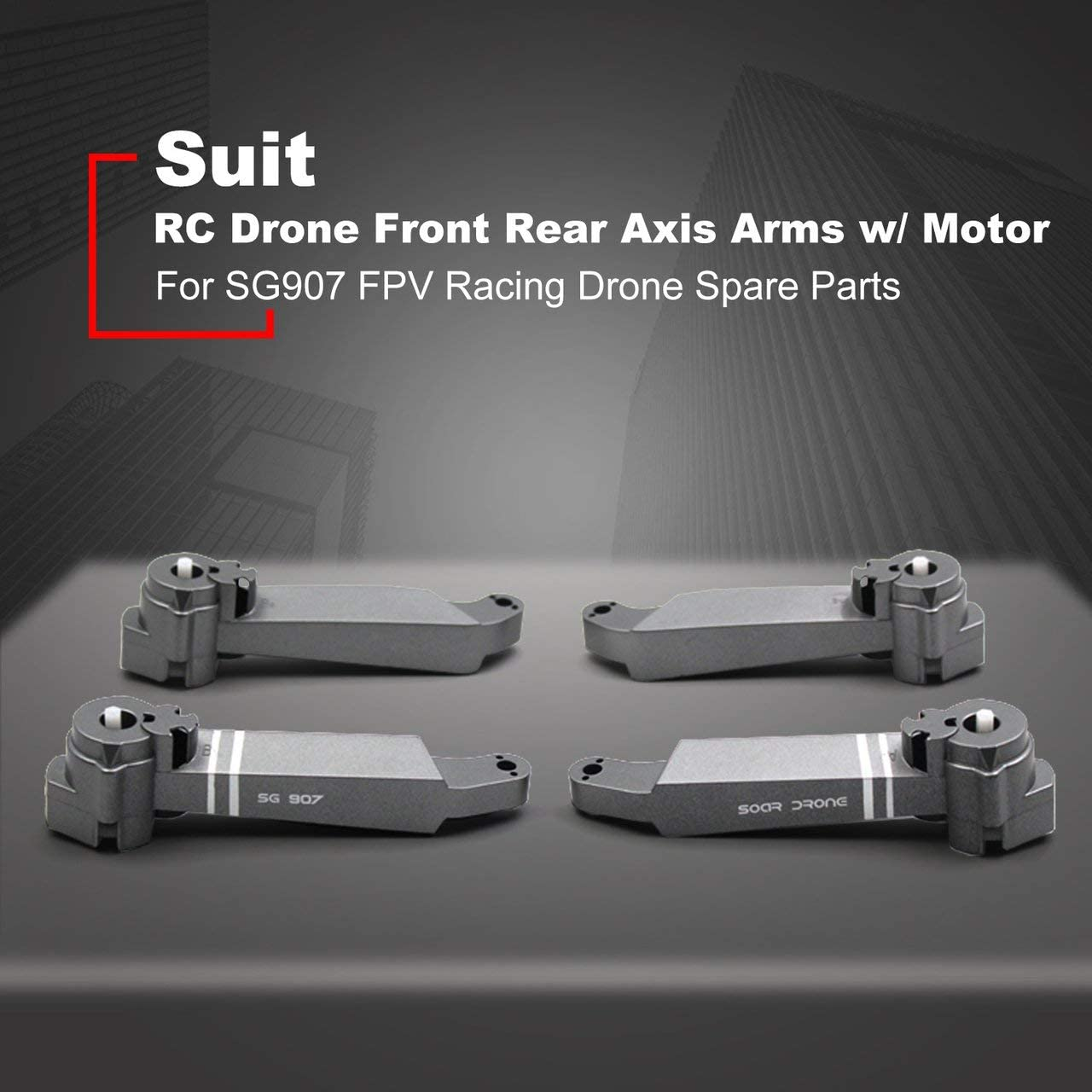 Black Jasnyfall RC Drone Front Rear Axis Arms w// Motor For SG907 FPV Racing Drone Frame Replacement Spare Parts Accessory