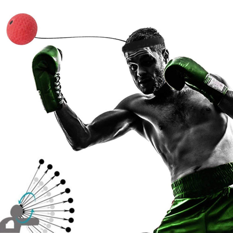 MXECO Eubi E305 Banda de Cabeza de Bola de Boxeo Respuesta r/ápida Velocidad Entrenamiento Punzonado Muay Thai Deportes Equipo de Ejercicio Alivio del estr/és