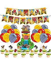 Lion Guard Party Decorations,Birthday Party Supplies For Lion Guard Includes Banner - Cake Topper - 12 Cupcake Toppers - 18 Balloons