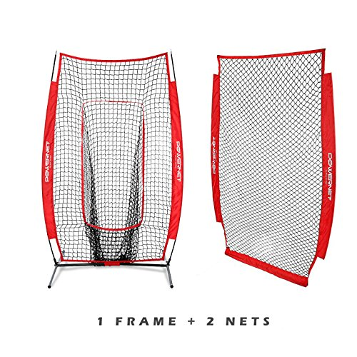 PowerNet I-Screen w/Frame + Infielder Net Bundle (Red)