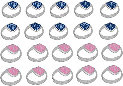 H14P LDS Kids CTR Ring Adjustable 20 Pack Green and Pink One Moment In Time H14G