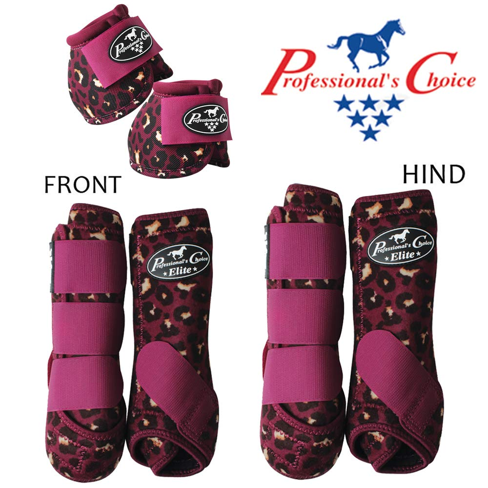 Professional Choice 6 Pack Large Horse Sports Front HIND Bell Boots