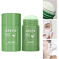 Green Tea Purifying Clay Stick Mask Oil Control Anti-Acne, Blackhead Remover, Natural Face Moisturizes Oil Control, Deep…