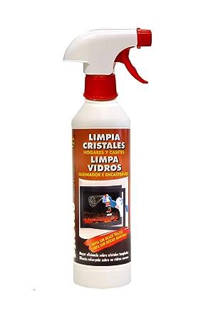 PYRO FEU 24501-12 Limpiacristales para chimeneas 500 ml Blanco y marrón: Amazon.es: Jardín