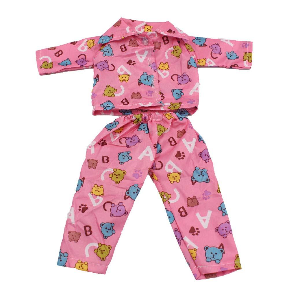 55ecf9b9b59f8 人形ジャケットパンツセットは18インチのAmerican Girl bitty Babyの人形服アクセサリーに最適です。 ミニかわいい可愛いパジャマは当社のジェネレーション、  ...